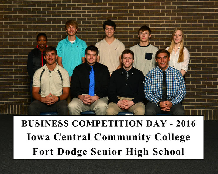 Students who competed in the Iowa Central Community college business competition day
