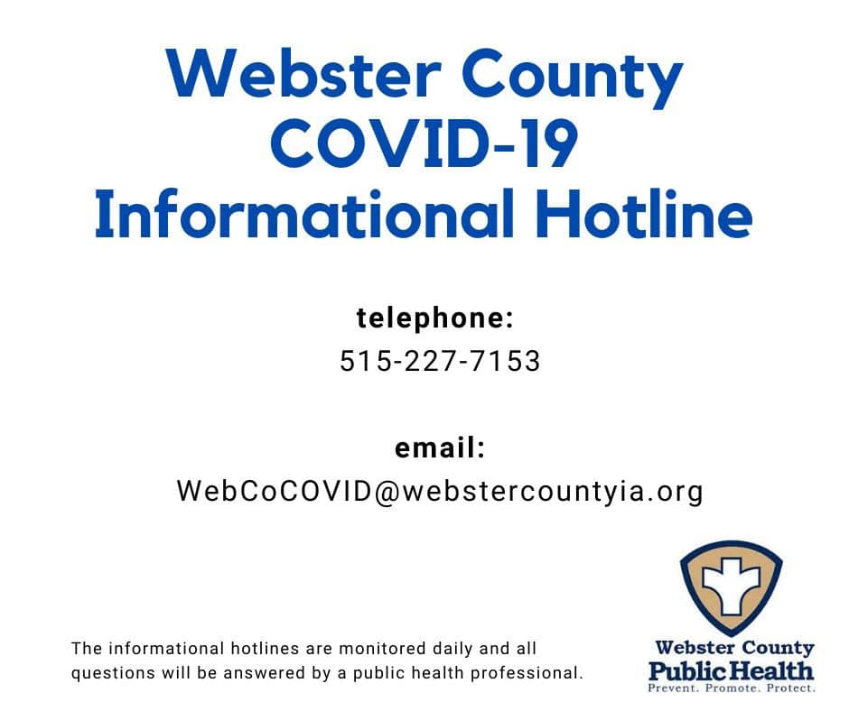 Webster County COVID-19 Informational Hotline