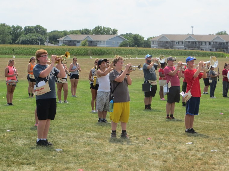 The FDSH Dodger Marching Band worked hard at band camp to prepare an outstanding show for this fall!