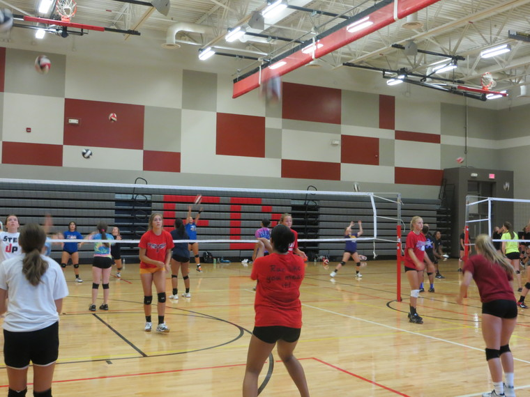 FDSH volleyball got off to a great start at their first practice of the season.